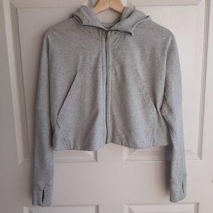 Lululemon Gray Cropped Zip Up Seva Jacket Size 4